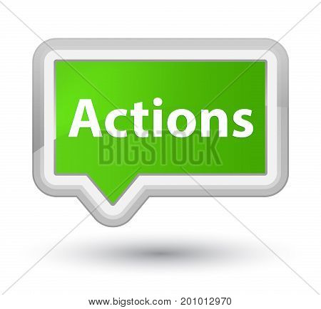 Actions Prime Soft Green Banner Button