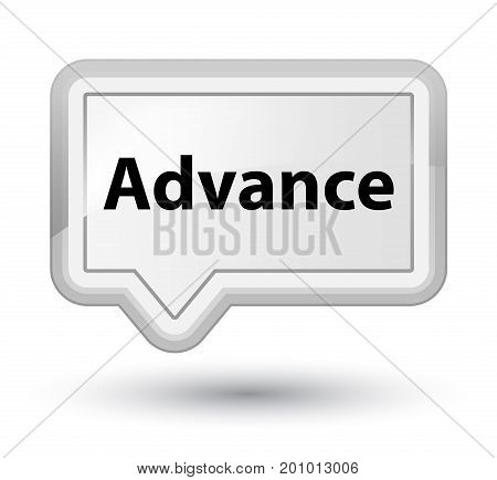 Advance Prime White Banner Button