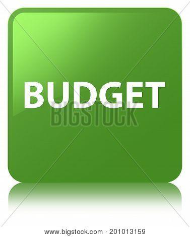 Budget Soft Green Square Button