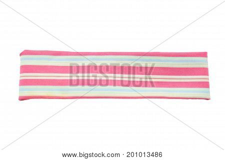 striped sport headband isolated on white background.