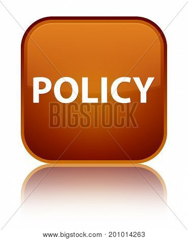 Policy Special Brown Square Button
