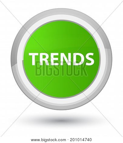 Trends Prime Soft Green Round Button