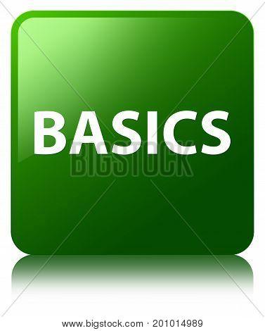 Basics Green Square Button
