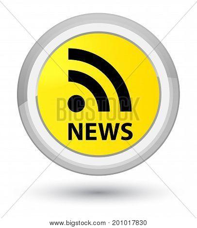 News (rss Icon) Prime Yellow Round Button