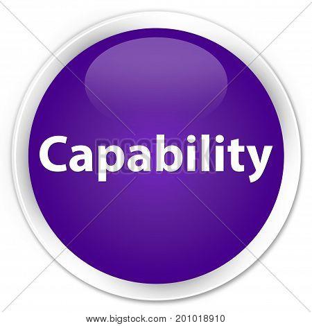Capability Premium Purple Round Button