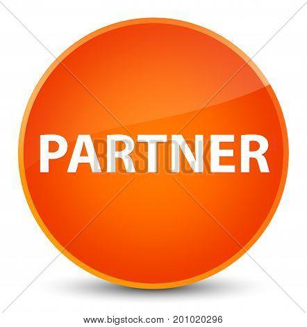 Partner Elegant Orange Round Button