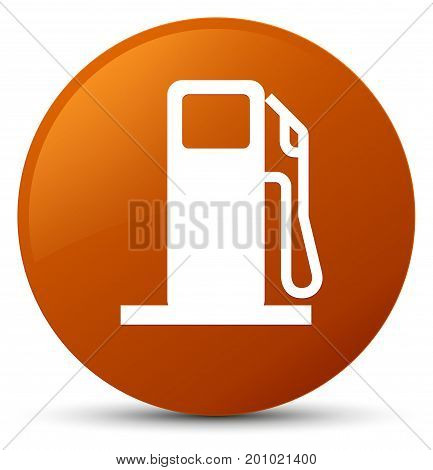 Fuel Dispenser Icon Brown Round Button