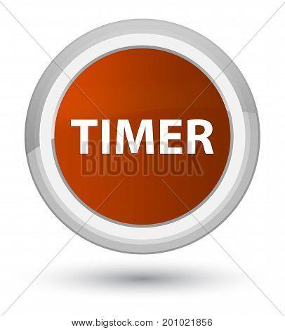 Timer Prime Brown Round Button
