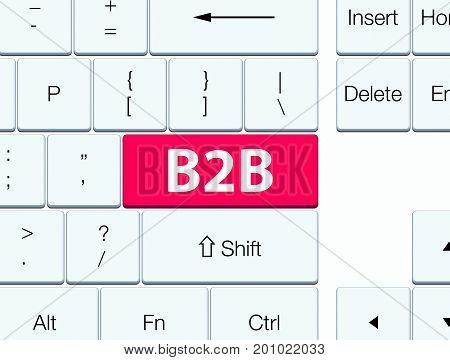B2B Pink Keyboard Button