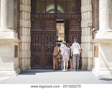 Egyptian Museum (museo Egizio) In Turin