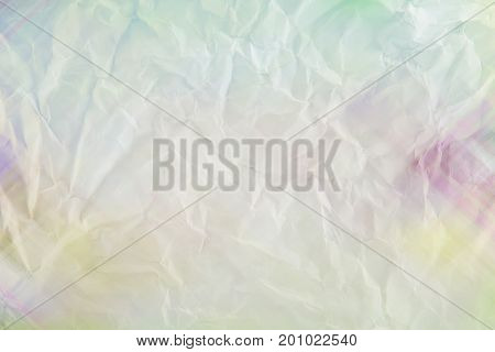 The wrinkled paper colorful texture a background