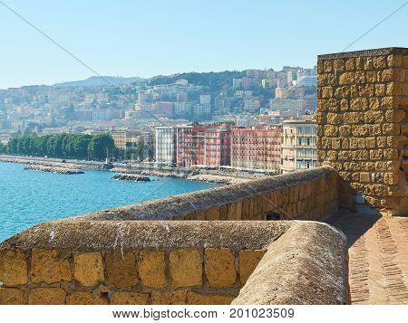 Castel Dell'ovo Castle. Naples, Italy.