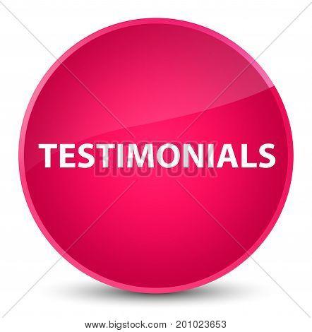 Testimonials Elegant Pink Round Button