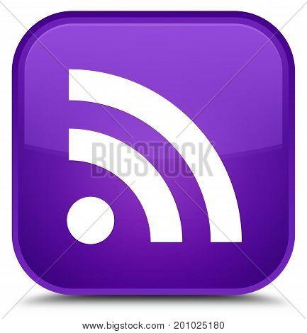 Rss Icon Special Purple Square Button