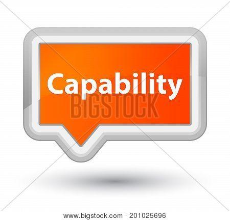 Capability Prime Orange Banner Button