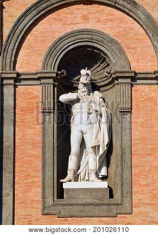 Statue Of Gioacchino Murat In Palazzo Reale Di Napoli. Campania, Italy.