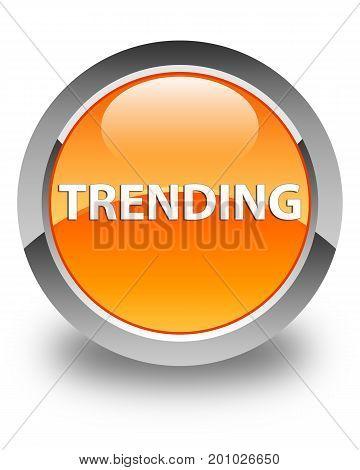 Trending Glossy Orange Round Button