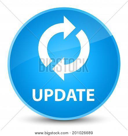Update Elegant Cyan Blue Round Button