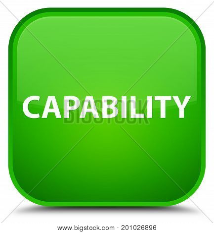 Capability Special Green Square Button