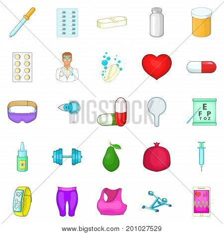 Personal doctor icons set. Cartoon set of 25 personal doctor vector icons for web isolated on white background