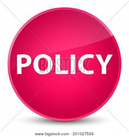 Policy Elegant Pink Round Button