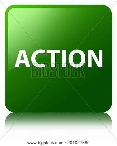 Action Green Square Button