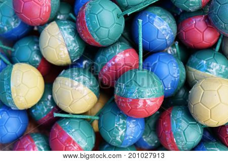 colorful of mini bomb ball for background