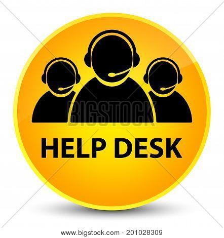 Help Desk (customer Care Team Icon) Elegant Yellow Round Button