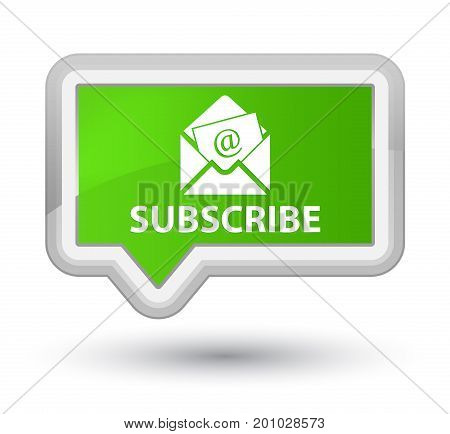 Subscribe (newsletter Email Icon) Prime Soft Green Banner Button