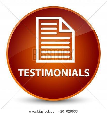 Testimonials (page Icon) Elegant Brown Round Button