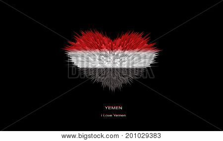 The Heart of Yemen Flag abstract background.