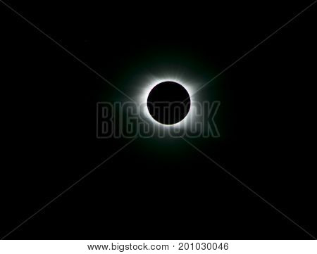 Solar Eclipse during totality as seen from Colombia SC