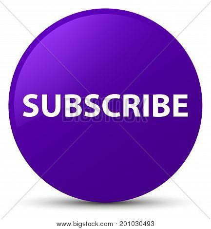 Subscribe Purple Round Button