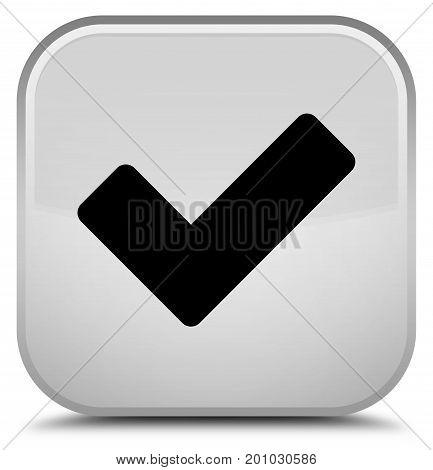 Validate Icon Special White Square Button