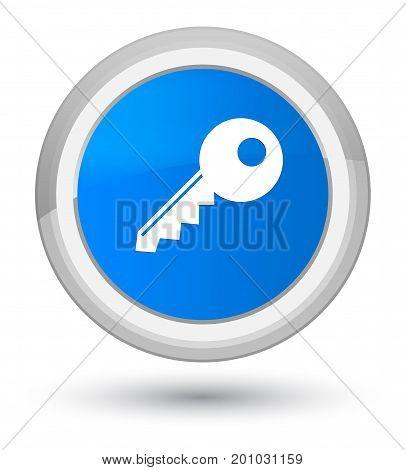 Key Icon Prime Cyan Blue Round Button