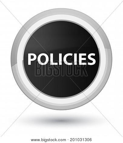 Policies Prime Black Round Button