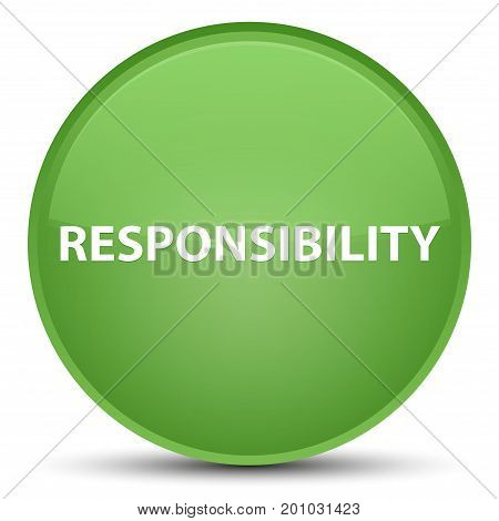 Responsibility Special Soft Green Round Button