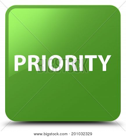 Priority Soft Green Square Button