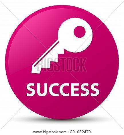 Success (key Icon) Pink Round Button