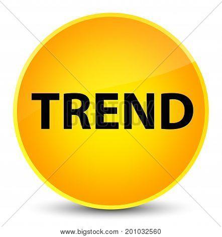 Trend Elegant Yellow Round Button