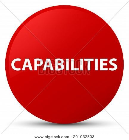 Capabilities Red Round Button