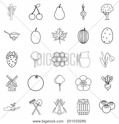 Plot icons set. Outline set of 25 plot vector icons for web isolated on white background