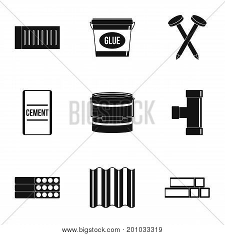 Home construction tool icon set. Simple set of 9 home construction tool vector icons for web isolated on white background