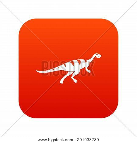 Gallimimus dinosaur icon digital red for any design isolated on white vector illustration