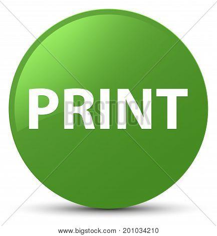 Print Soft Green Round Button