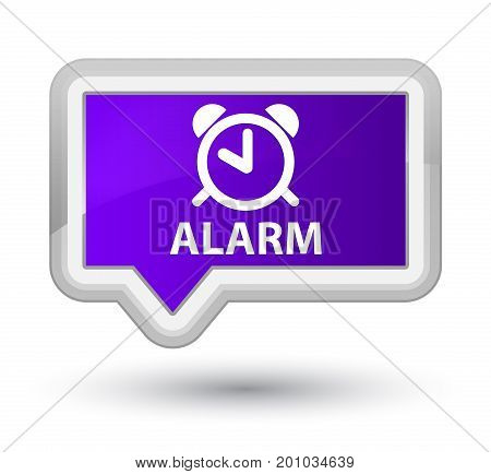 Alarm Prime Purple Banner Button