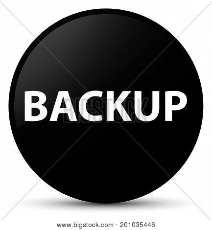 Backup Black Round Button
