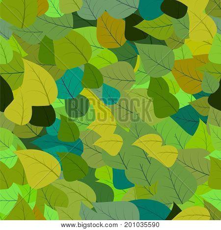 vector leaves pattern green color illustation blackground