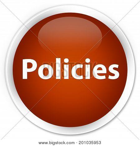 Policies Premium Brown Round Button