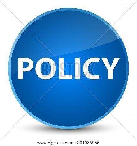 Policy Elegant Blue Round Button